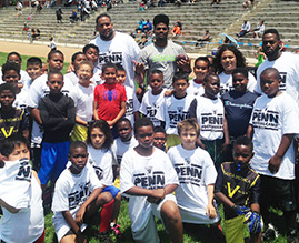 Donald Penn Football Camp, Playa del Rey, California